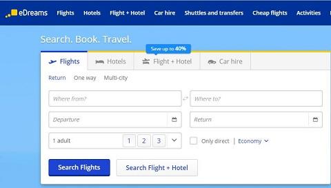 eDreams荷兰官网 NL 西班牙在线全球旅行订票网站 第1张